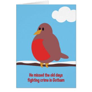 Alte Tagesrobin-Weihnachtskarte Grußkarte