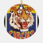 Alte ursprüngliche Vintage Tigerzirkus-Plakat Keramik Ornament