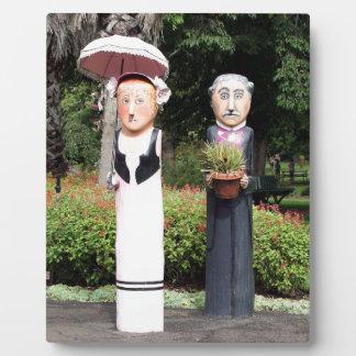 Alte verheiratete Paarskulpturen Fotoplatte
