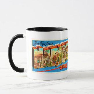 Alte Vintage Reise-Andenken Marion Ohio OH- Tasse