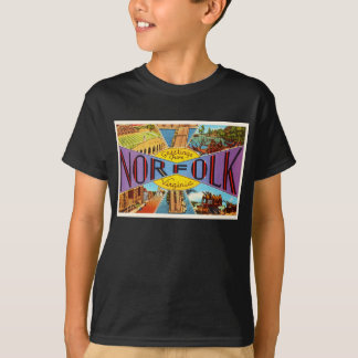 Alte Vintage Reise-Postkarte Norfolks Virginia VA T-Shirt