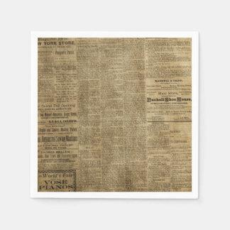 Alte Vintage Zeitung Servietten