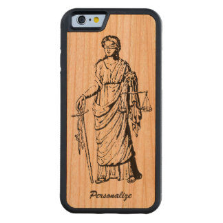 "Alte Welt ""Dame Justice"" Retro oder Vintages Bumper iPhone 6 Hülle Kirsche"