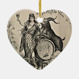 Alte Werbung des Bock-Bieres Keramik Ornament