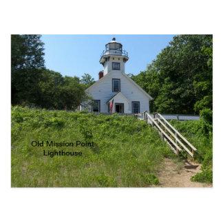 Alter Auftrag-Punkt-Leuchtturm Postkarte