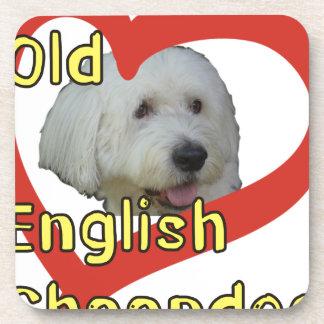 Alter englischer Schäferhund Getränkeuntersetzer