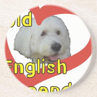 Alter englischer Schäferhund Untersetzer