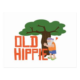 Alter Hippie Postkarte