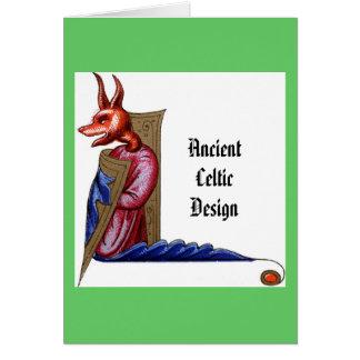 Alter keltischer Entwurf - Kobold Karte