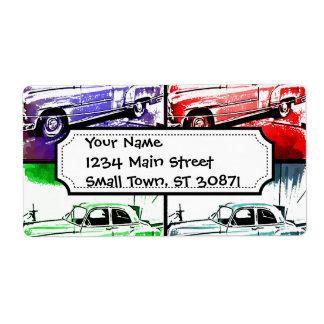 Alter klassischer Autowatercolor-Pop-Kunst-Druck Versand Aufkleber