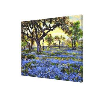 Alter Live Oak-Baum und Bluebells - Onderdonk Leinwanddrucke