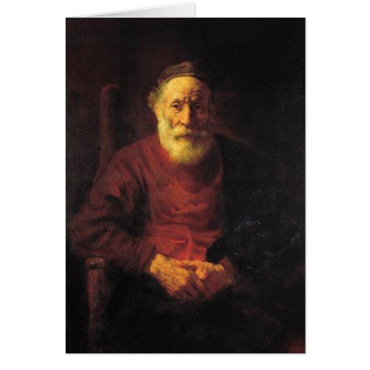 Alter Mann im Rot - Rembrandt Karte
