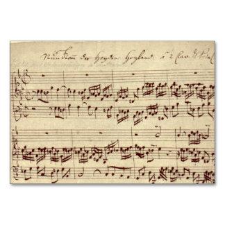 Alter Musiknoten - Bach Musik-Blatt