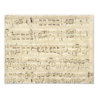 Alter Musiknoten - Chopin-Musik-Blatt Kunstfoto