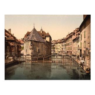 Alter Palast und Kanal, Annecy, Frankreich Postkarte