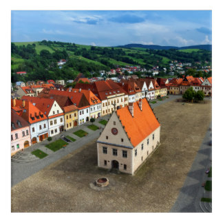 Alter Rathausplatz in Bardejov bis zum Tag, Acryldruck