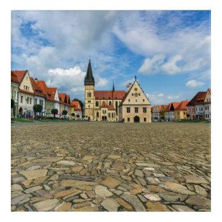 Alter Rathausplatz in Bardejov, Slowakei Acryldruck