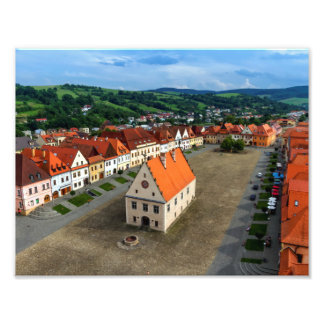 Alter Rathausplatz in Bardejov, Slowakei Fotodrucke