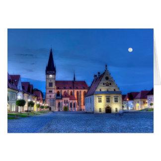 Alter Rathausplatz in Bardejov, Slowakei, HDR Karte