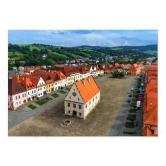 Alter Rathausplatz in Bardejov, Slowakei Karte