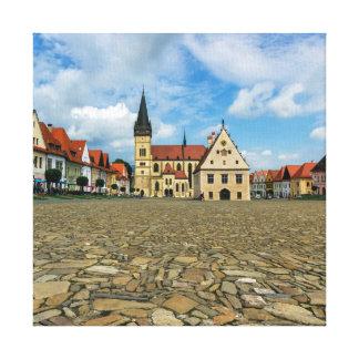 Alter Rathausplatz in Bardejov, Slowakei Leinwand Druck
