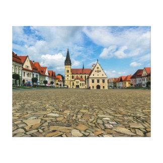 Alter Rathausplatz in Bardejov, Slowakei Leinwanddrucke
