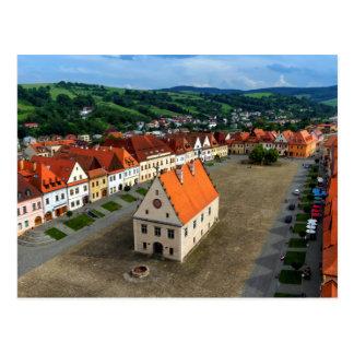 Alter Rathausplatz in Bardejov, Slowakei Postkarte