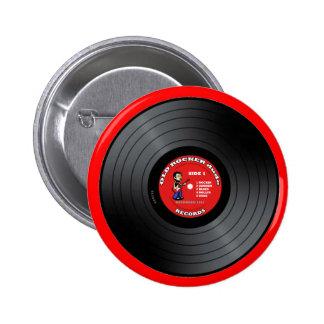 Alter Rocker-Typ-Vinylaufzeichnungs-Knopf Runder Button 5,1 Cm