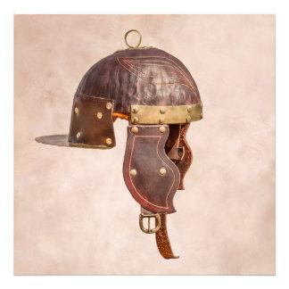 Alter römischer Militärsturzhelm Fotodruck