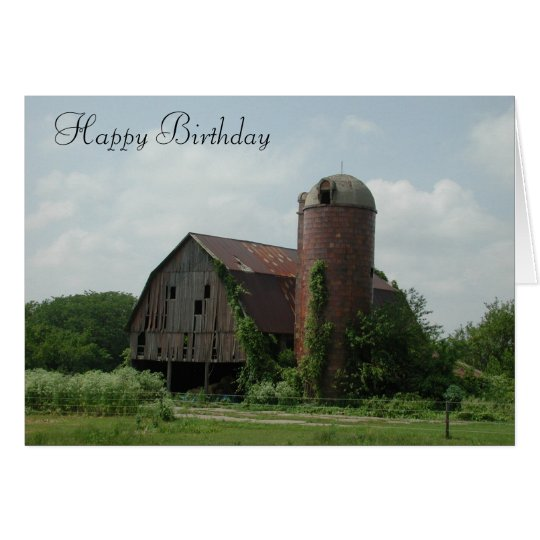 Alter Scheunen-Geburtstag Karte