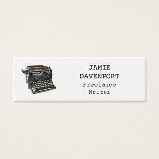 Alter Schreibmaschinen-Verfasser-Journalist-Autor Mini Visitenkarte