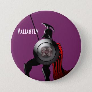 Alter spartanischer Krieger Runder Button 7,6 Cm