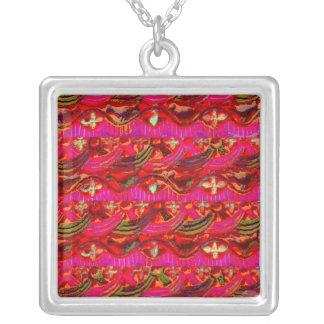 Alter Tempel-Kunst Indiens von Haridwar Halskette Mit Quadratischem Anhänger