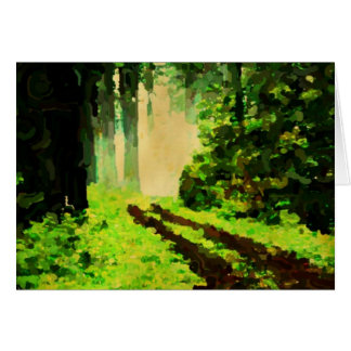 alter Waldweg zum Licht Karte