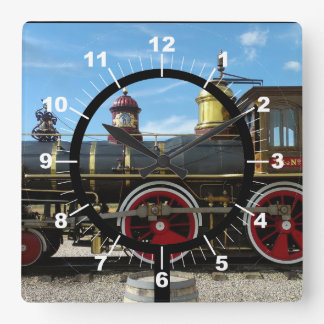 Alter Zug-Motor Quadratische Wanduhr