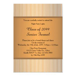Ältere formale Klasse 2099, Goldbronze des 12,7 X 17,8 Cm Einladungskarte