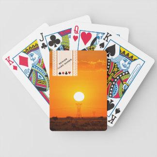 Ältere Kartenspiel-Sonnenuntergang-Landschaft Bicycle Spielkarten