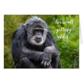 Älterem ist zum Kotzen Spaß Tiergorilla-Geburtstag Karte