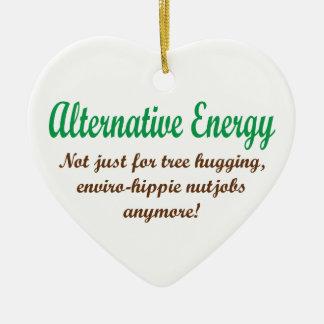Alternative Energie Keramik Herz-Ornament