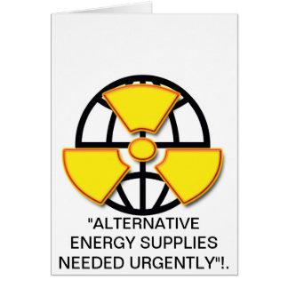 """""""Alternative Energiezufuhren gewollt """" * Karte"""