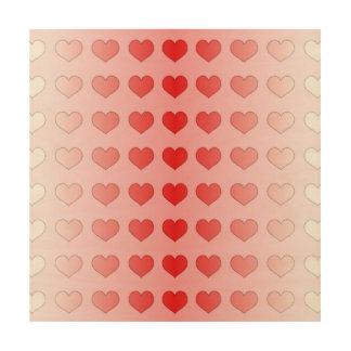Alternative Guestbook-Süßigkeits-Herzen rot und Holzleinwände