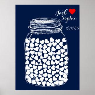 Alternative Hochzeitsgastbuch-Maurerkreide 100 Poster