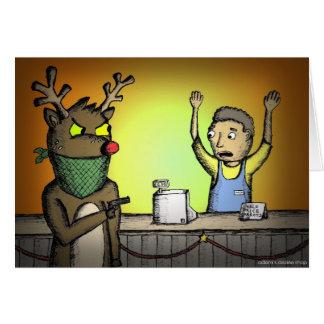 Alternative Weihnachtskarten - schlechtes Ren Karte