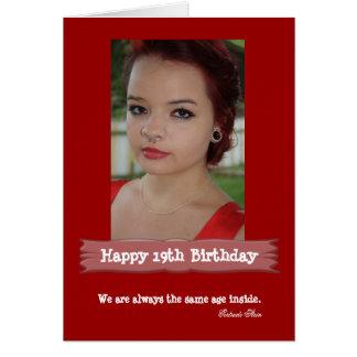 Alters-Foto-Geburtstags-Karte Grußkarte