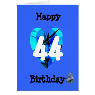 Alters-Geburtstag des Blau-44. Karte