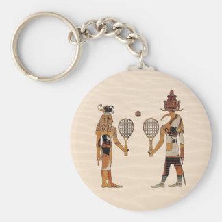 Altes Ägypten-Gott-Tennis lustiges Keychain Schlüsselanhänger