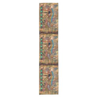 Altes ägyptisches Auge von Horus Wadjet Kurzer Tischläufer