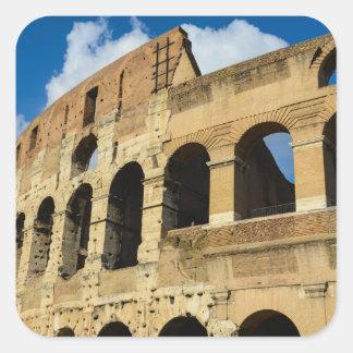 Altes Colosseum in Rom, Italien Quadratischer Aufkleber