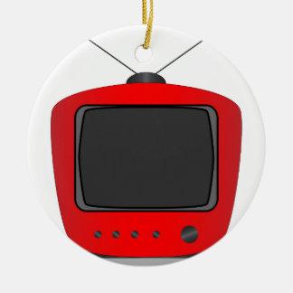 Altes FernsehSet Keramik Ornament