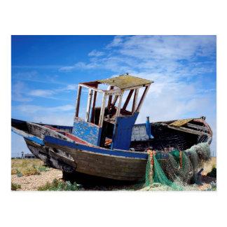Altes Fischerboot Postkarte